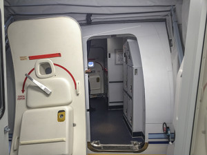 Creating a tight seal with the aircraft, the jetway features an abundance of safety features, including automatic levelling and a door detector.